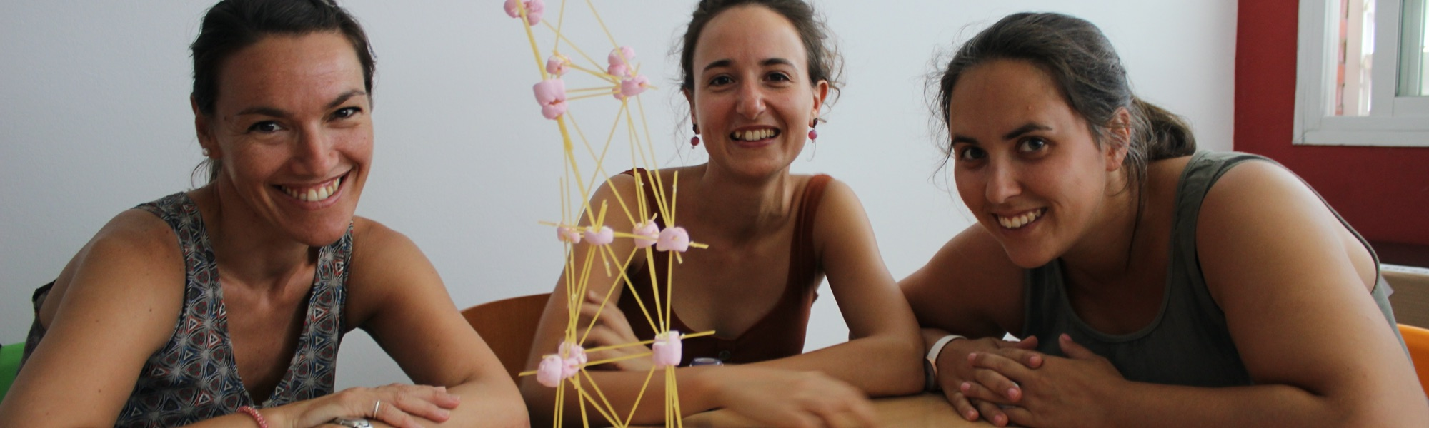 Mestres després de fer una marshmallow challenge